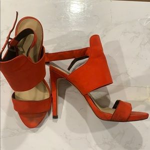 Zara strappy red heels